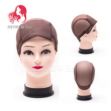 Wholesale Adjustable Wig Caps For Making Wigs Nylon Hairnets Black/Brown Color 5PCS/LOT Free Shipping Deluxe Multi-use Weaving