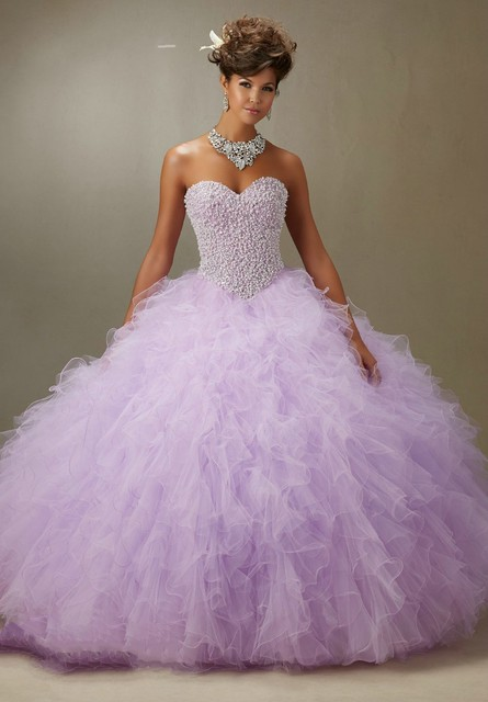 a64d442112 Elegant Quinceanera Dresses Light Blue Pink Organza Ball Gown Custom Made  Beade Crystal Ruffles Vestidos De 15 Anos Q1032