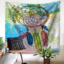 Large Size Cloth Wall Hanging Tapestry Picnic Mats Curtain Bed Sheets 10 Models Watercolor Dream Catcher Wall Background Decor(China)