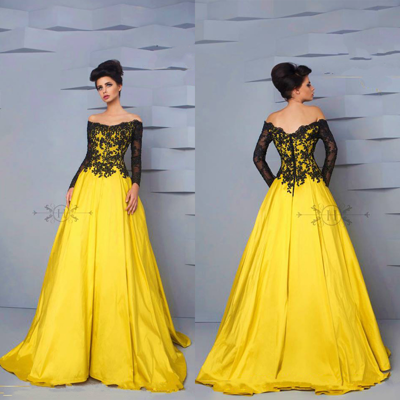 Popular Yellow Gown Dresses-Buy Cheap Yellow Gown Dresses lots ...