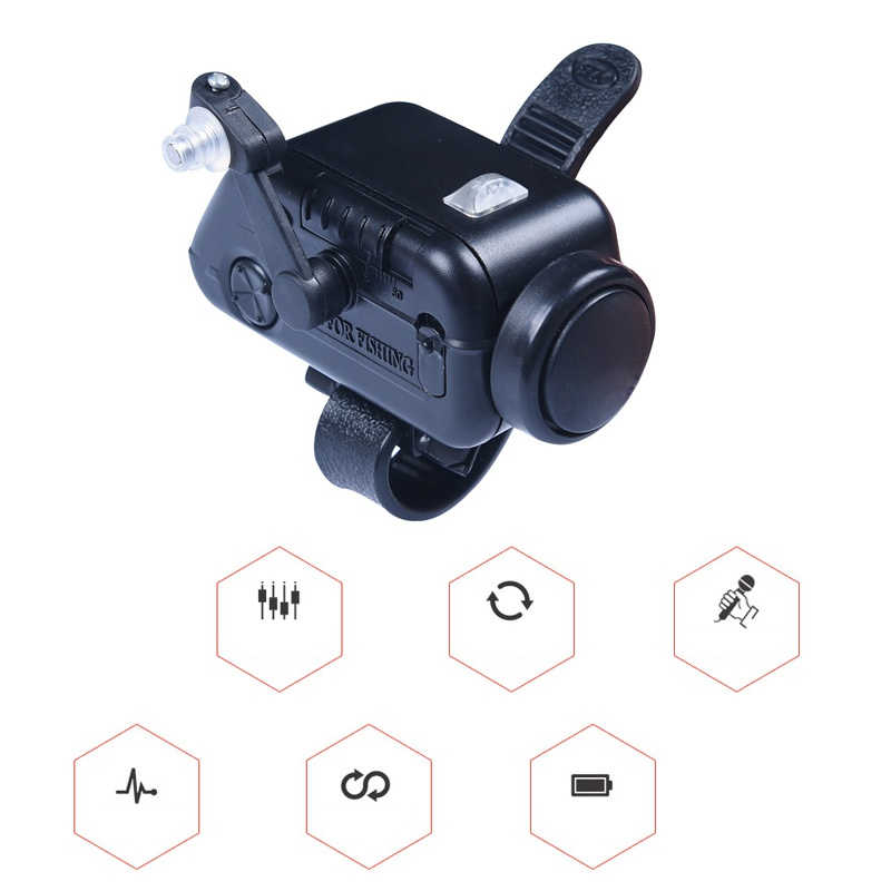 2019 New High Sensitive Fish Bite Alarm Adjustable Volume Fishing Rod Signal Device Bait Alertor