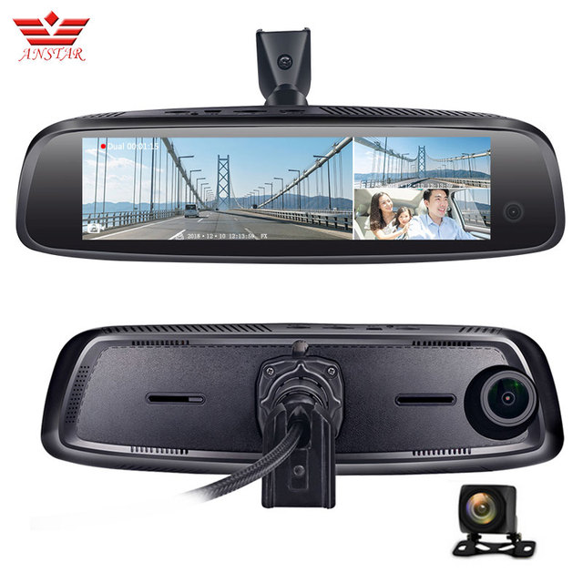 ANSTAR Car DVR ADAS 4G Android Rearview Mirror With 2+32GB 3-CH Dash Camera FHD 1080P Video Recorder Give Gar-Specific Bracket