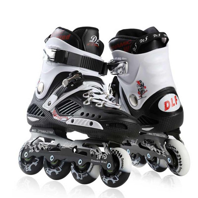 Adult Inline Skates Professional Slalom <font><b>Roller</b></font> Skating Shoes Sliding Free <font><b>Roller</b></font> Skating Good Quality As SEBA Patines DLF IA23