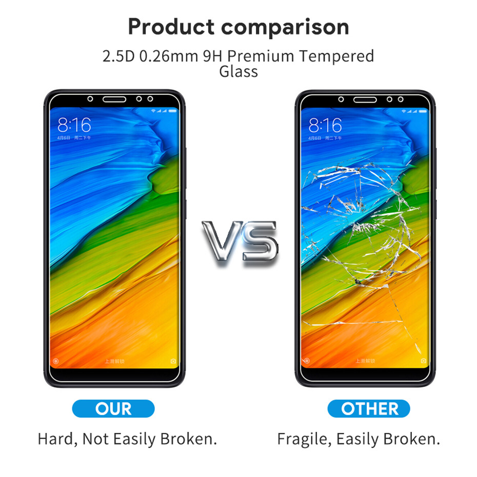 Image 5 - Screen protector for xiaomi redmi 5 5 plus 4X 4A 5A 6A tempered glass for xiomi redmi 6 6 pro Note 5 note 4x protective film-in Phone Screen Protectors from Cellphones & Telecommunications