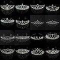 Свадебная тиара с кристаллами, стразы, корона, сердце, тиара, серебряная, для женщин и детей, гребень для волос