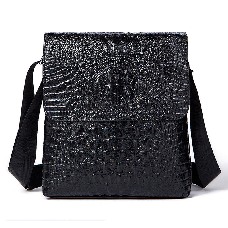 Luxury brand Genuine Leather Leather men messenger bags stereo embossed crocodile pattern vertical business men Shoulder BagsLuxury brand Genuine Leather Leather men messenger bags stereo embossed crocodile pattern vertical business men Shoulder Bags