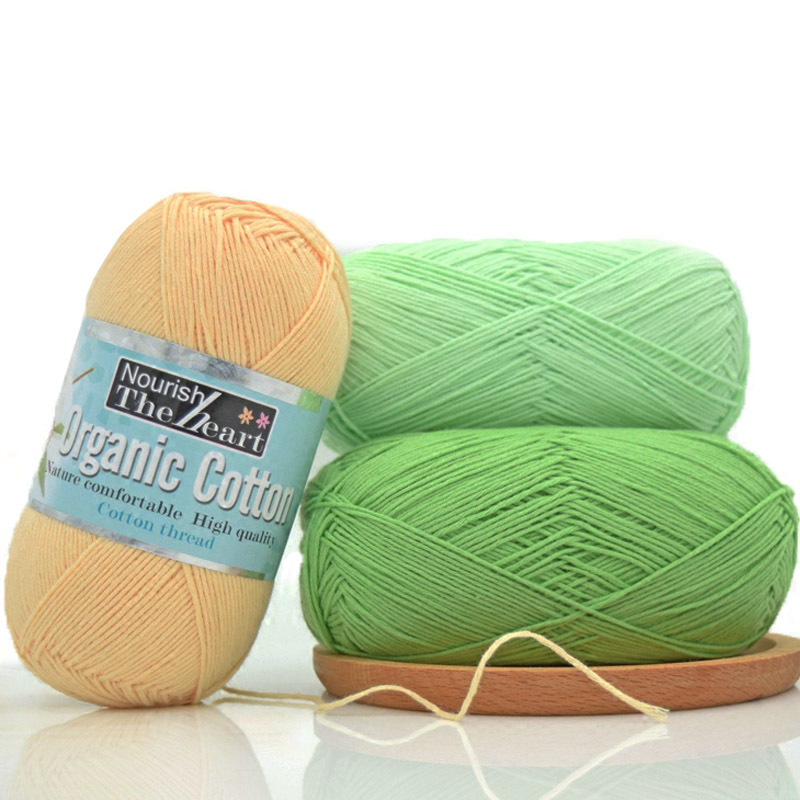 Combed 50g/ball 100% Organic Cotton First Class Soft Baby Yarn Eco-friendly Cotton Yarn For Hand Knitting Crochet Thread JB002