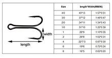 JSM 50pcs/lot Dual High Carbon Steel Black Fishing Hooks Double anchor hook Saltwater fishing tackle size 8#-4/0