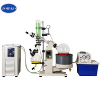 ZOIBKD 5L Laboratory Rotary Evaporator Includes Rotary Evaporator / Chiller / Vacuum Pump : One Low Price