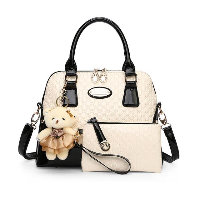 Famous Brand 2017 Hot Alligator Women Bags 2 Pieces Set Women's Handbags Embossing Composite Bag Ladies Female Bag SMYYG-C0027