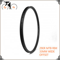 2016 Newest 33mm Width Hookless Carbon Rims 29er Offset Asymmetry Carbon Mtb Bike Rims MB MAS29
