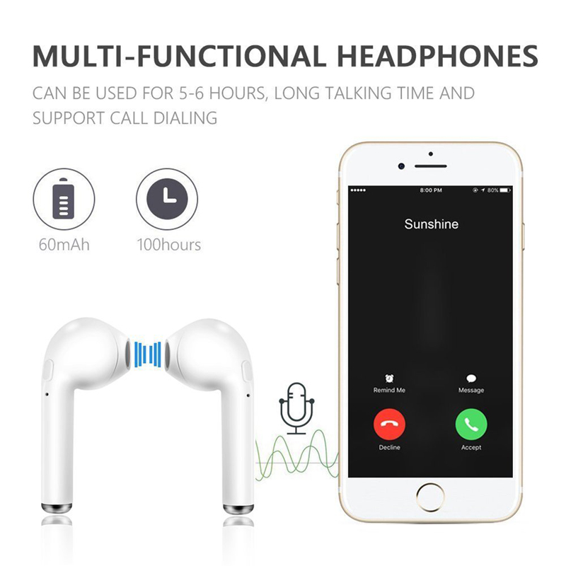 I7S TWS Bluetooth Headphones Portable Wireless Earphones With Charging Box mini bluetooth headsets Universal Type TWS