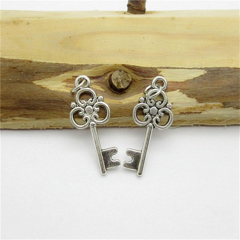 6854f668f353 90 unids (20 10mm) plata antigua encantos colgante dominante de la aleación  cupieron las pulseras europeas DIY joyería del metal