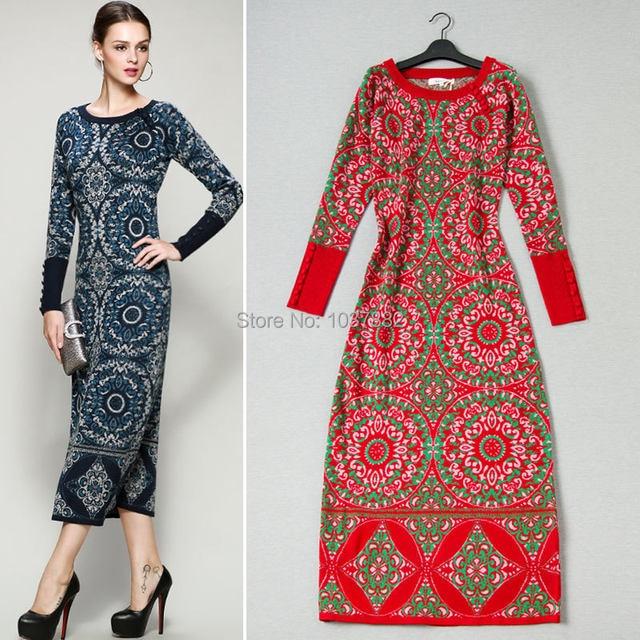 51260ffb62 Online Shop 2017 new spring Boutique sweater dress Vintage fashion ...