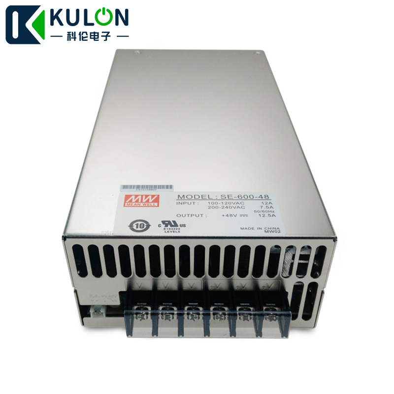 Original MEAN WELL SE 600 48 single output 600W 12.5A 48V Meanwell switching Power Supply AC 110V/220V to DC 48V power source