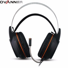 Ovann X80 Pc Gaming Headphones Over Ear Recreation Headset Shock Deep Bass With Mic Respiratory LED Lights Design for PC Gamer