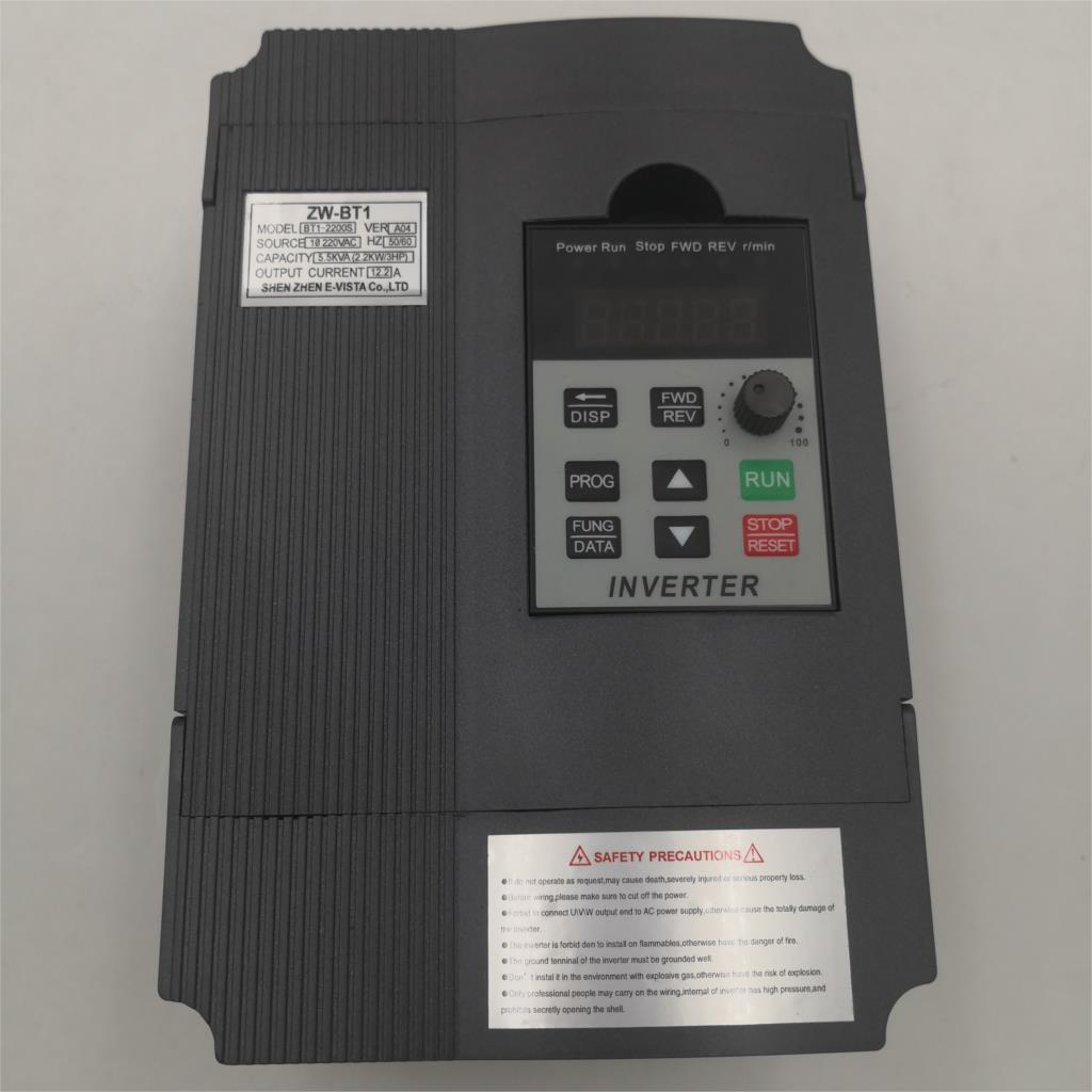 VFD 2.2KW 1.5KW/2.2KW/4KW  Frequency Converter ZW-AT1 BT1 3P 220V/110V Output  CNC Spindle motor speed Control VFD Converter 2