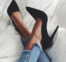 Fashion High Heel Pumps 12cm Black Red Suede Stretch Women Shoes High Heels Slip-on Stiletto Heels Ladies Wedding Dress Shoes new designer black leather ankle wrap pumps women shoes pointed toe stiletto heels high heels pumps 12cm pink red ladies shoes