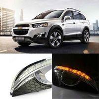 Ownsun Innovative Rhinocceros LED DRL Daytime Driving Light+Turn for Chevrolet Captiva