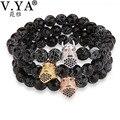V YA Unique Charm Beads Bracelets Bangles for Man Woman Watch Accessories Fashion Women's Men's Natural Stone Bracelet