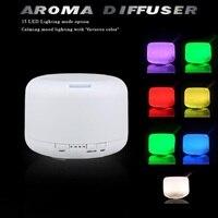 500 ml 15 Màu Changable LED Light Essential Oil Aroma Diffuser Không Khí Siêu Âm Sản Xuất bằng Độ Ẩm cho Home & Phòng Ngủ 110-240 V