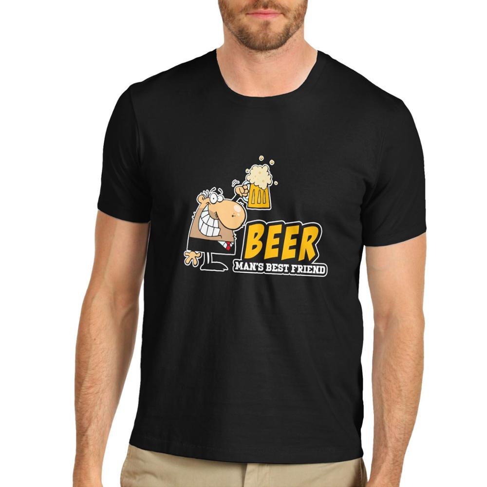 Men Brand Printed 100 Cotton T Shirt Men 39 S Funny Beer Man