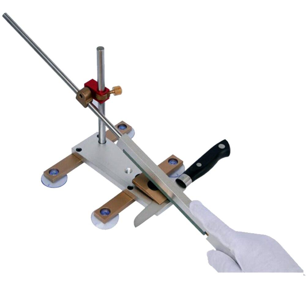 Affûteuse d'apex de couteau de cuisine avec la glissière en laiton de ventouse/couteau professionnel de rail de chrome whetstone