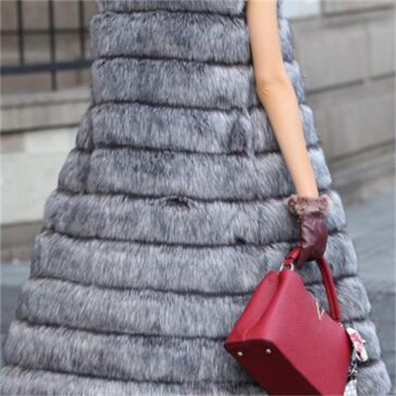 2019 Herbst Winter hochwertige flauschige Imitation Fuchspelz Weste - Damenbekleidung - Foto 5