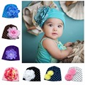 New Lovely Baby Headwear Candy Beanie Hat Big flower Beanies Toddler girls hat Infant flower beanie hat Cotton cap
