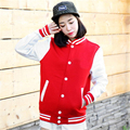 Autumn Winter Casual Cotton Fleece Baseball Uniform Jacket Sweatshirts Ladies Hoodies Plus Size Ladies Clothing Cotton Fleece