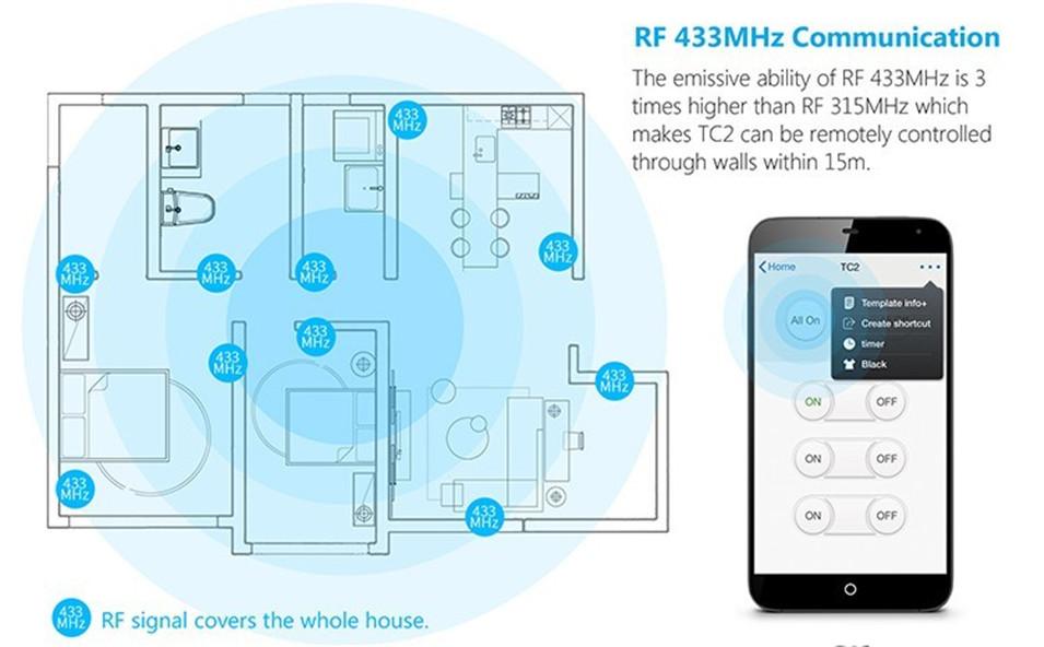 Broadlink EU UK TC2 Wireless 1 2 3 Gang Remote Control Wifi Wall Light Touch Switch 110-240V RF433 Broadlink Rm2 Rm Pro Domotica-10