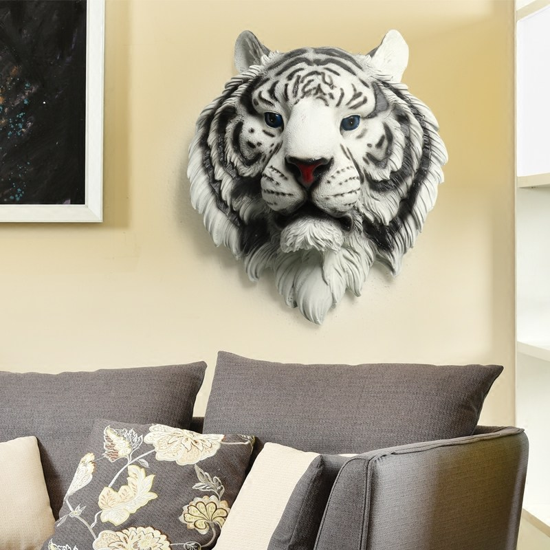 Tiger Head Wall Decoration Mounted