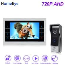 HomeEye 720P AHD Video Door Phone Video Intercom Home Access Control System Motion Detection Multi-languages OSD Menu UnlockDoor все цены