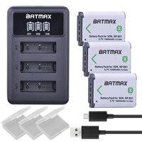 3X NP BX1 Bateria NP-BX1 Batterij + 3-Slots LED Charger voor Sony DSC RX1 RX100 AS100V M3 M2 HX300 HX400 HX50 HX60 GWP88 AS15 WX350