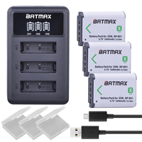 3X NP BX1 Bateria NP BX1 Battery 3 Slots LED Charger For Sony DSC RX1 RX100