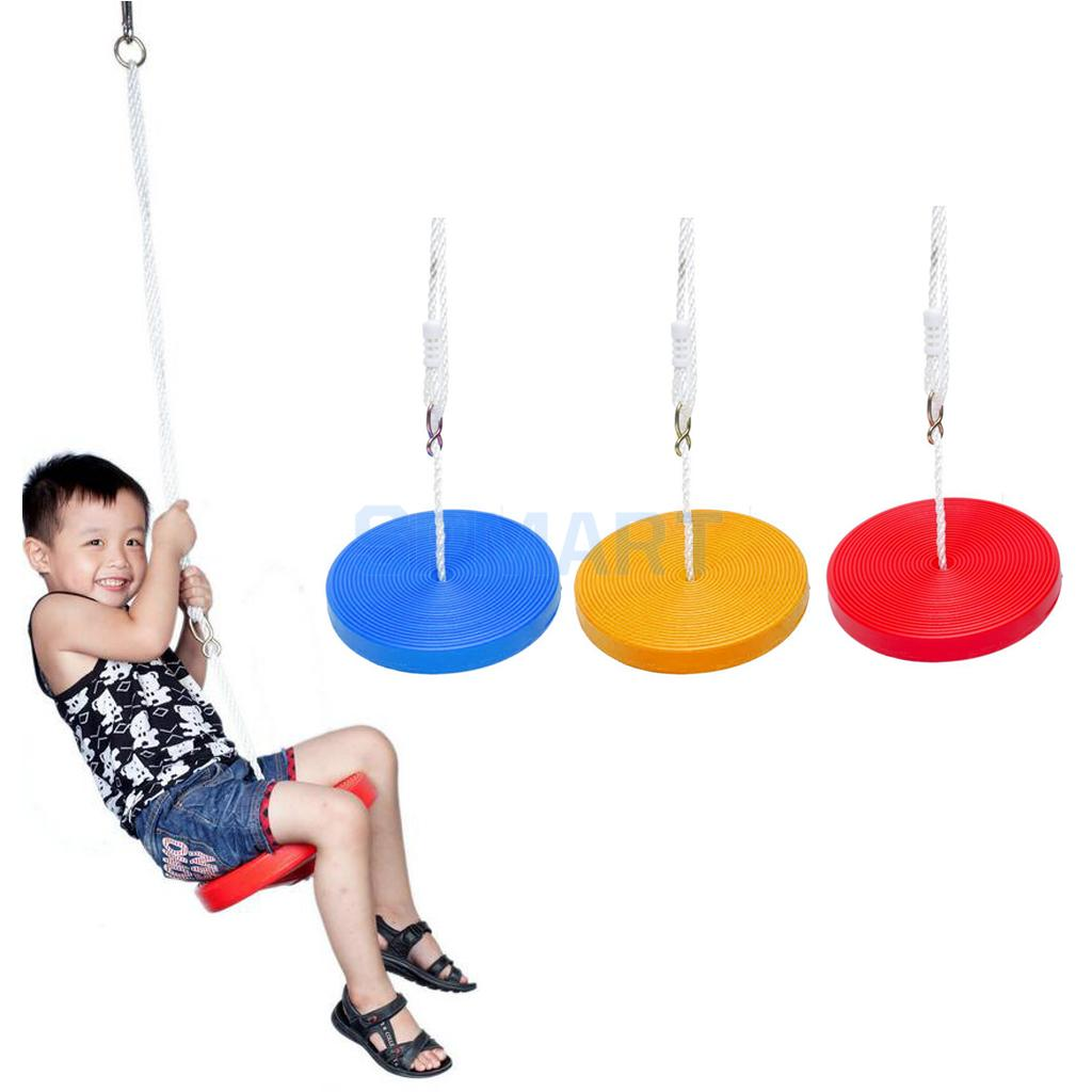 Children Outdoor Tree Hanging Disc Rope Swing Set Garden Park Playground Playing Swingset Toy Gift children toy swing outdoor indoor wood ladder rope playground games for kids climbing rope swing wooden 5 rungs pe rope