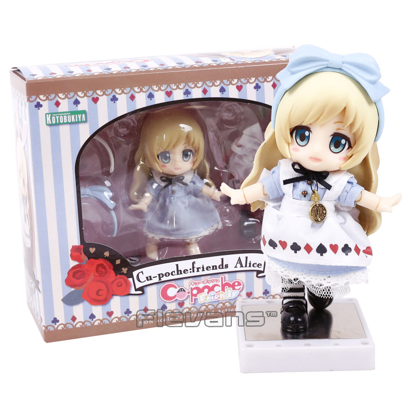 Cu-poche friends Alice from Alice in Wonderland Nendoroid Doll PVC Action Figure Collectible Model Toy 13CM alice q posket characters alice alice in wonderland pvc figure collectible model toy doll 15cm