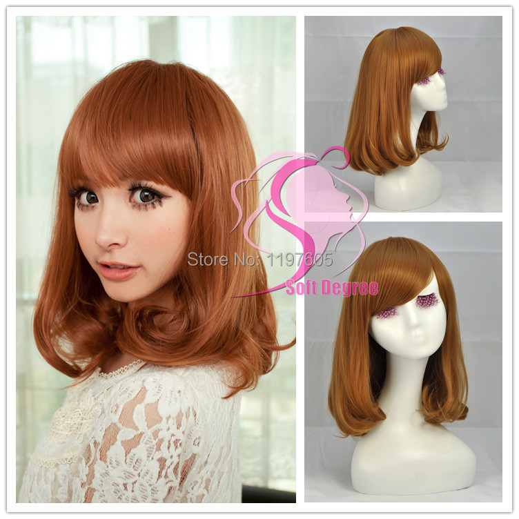 softdegree hair 2014 seconds kill special offer sweet girl light brown wig medium length curl. Black Bedroom Furniture Sets. Home Design Ideas