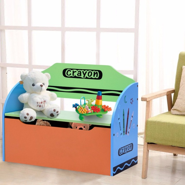 Giantex Kids Crayon Themed Wood Toy Storage Box Colorful Toys Organzier for Kids Toddler Modern Playroom  sc 1 st  AliExpress.com & Giantex Kids Crayon Themed Wood Toy Storage Box Colorful Toys ...