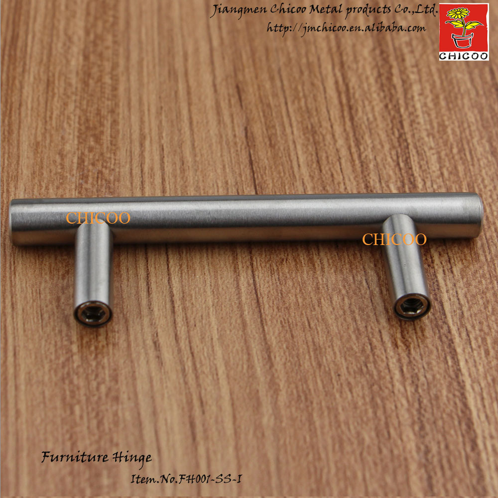 64mm center to center Stainless steel Kitchen Cabinet T Bar Pull ...