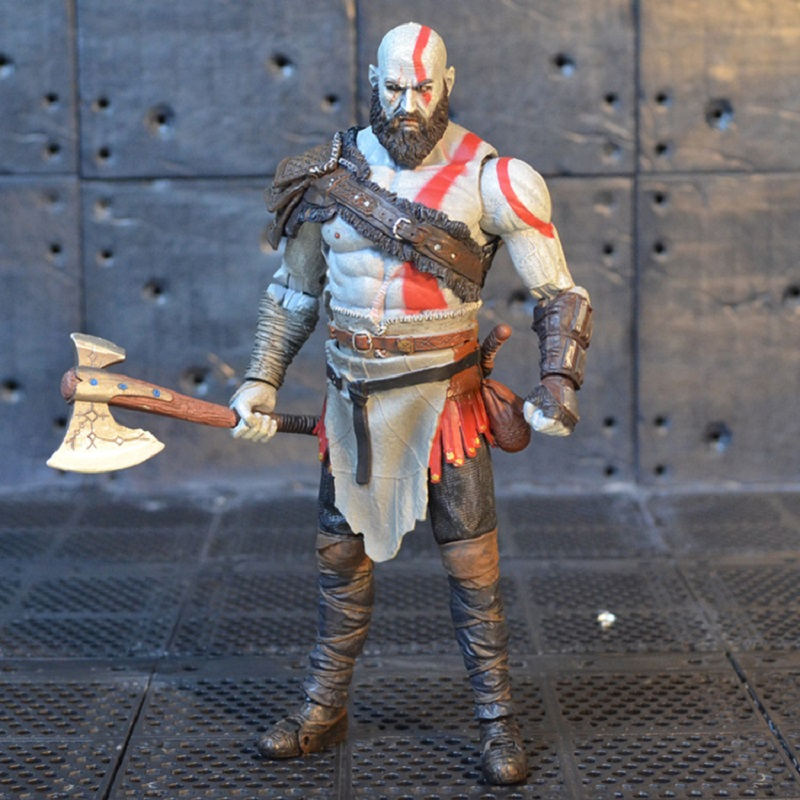 17cm Hot Game God of War Kratos Pvc Action Figure Toy Anime NECA Kratos Display Model Collection Toys Children Birthday Gift lps toy pet shop cute beach coconut trees and crabs action figure pvc lps toys for children birthday christmas gift