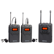 BOYA BY-WM6/BY-WM5/BY-WM8 УВЧ беспроводной микрофон системы всенаправленный петличный микрофон для eng EFP DV DSLR