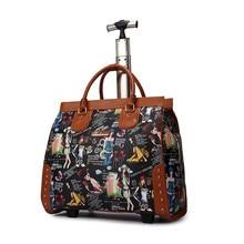 High Quality Girls Luggage 20 Inch PU  Trolley Suitcase Travel Mini Computer Single rod Trolley bags handbag woman laptop bag