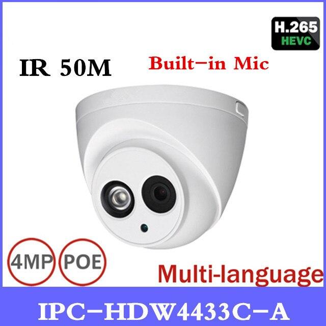 DH новая POE камера IPC-HDW4433C-A POE сетевая камера со встроенной микро заменой IPC-HDW4431C-A с лучшим ночного видения