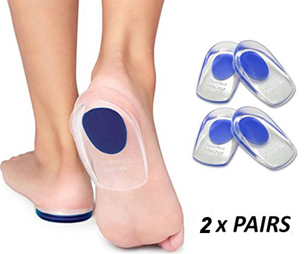 Gel Heel Cups Plantar Fasciitis Inserts - Silicone Heel Cup Pads for Bone Spurs Pain Relief Protectors of Your Sore anti anti heel shoe heel insole spurs plantar fasciitis achilles tendinitis plantar diabetic foot thick silicone cushion