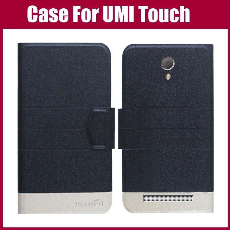 Žhavá sleva! UMI Touch Case Nové příchod 5 barev Fashion Flip Ultra-tenký kožený ochranný obal pro UMI Touch Case