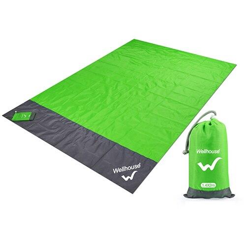 Походный коврик, водонепроницаемое пляжное одеяло, портативный коврик для пикника, коврик для пикника на открытом воздухе, коврик для пикника, одеяло, 1,4*2 м - Цвет: green