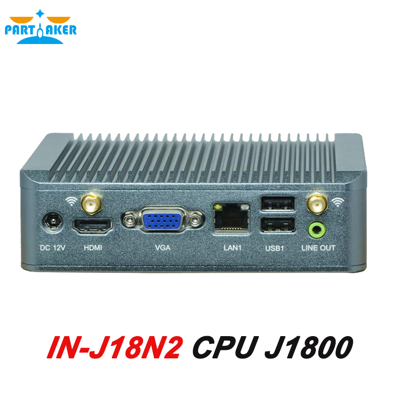 Fanless Mini PC Computer J1800 Nano PC HTPC Dual Lan 3G+SIM support with 8G RAM 512G SSD 2015 cheapest barebone mini pc computer nano j1800 with 3g sim function dual nics