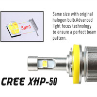 1PCS H7 LED for Motorcycle 12000LM XHP50 Chips LED Headlight bulbs 4300K 6000K H1 H3 H4 H11 HB3 HB4 H8 880 D1S D2S fog Light