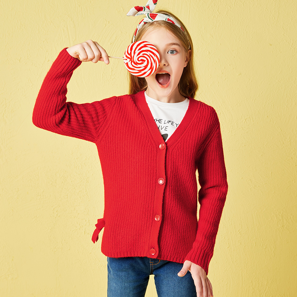 Children Girls Sweaters 2018 Autumn New Childs Knitwear Clothing Cotton Lotus Leaf Sweater Sweet Lovely Kids Clothes For GirlsChildren Girls Sweaters 2018 Autumn New Childs Knitwear Clothing Cotton Lotus Leaf Sweater Sweet Lovely Kids Clothes For Girls